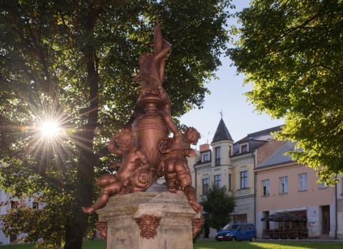 Barokní socha sv. Jana Nepomuckého - Vražné